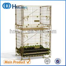 Galvanized metal wire stackable mesh storage bin