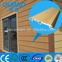eco-friendly CE SGS ISO FSC certified 113 * 16mm wood plastic composite pvc clapboard