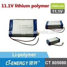 3500mah tablet pc battery/3500 rc lipo battery CT805080 11.1V IEC UN standard lithium polymer battery