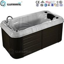 Hot sale mini jacuzzi function bathtub with massage pillow