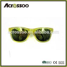 Transparent Retro Party Wayfarer Sunglasses Reflective Color Mirror Lens Sun glasses