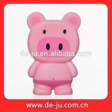 baño de los niños de plástico de los animales de juguete de baño feliz de juguete de plástico de juguete de cerdo