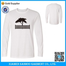 Hot Sale Mens Long Sleeve Tee With Screen Printing Made In China