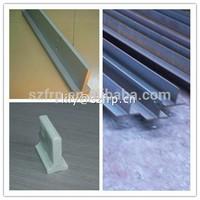 composite plastic fiberglass grp frp T structural profile, t bar, t beam