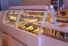 European type upright Cake showcase with front -opening doors / Deli / Fruit showcase refrigerator -- G800FS