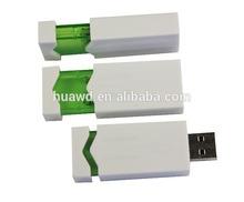 Push style USB Key, good quality logo branding service, fast lead time