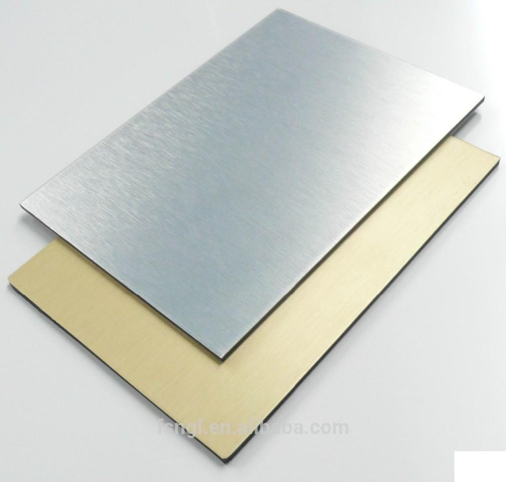 Factory Silver Brushed ACP / aluminum wall cladding / brushed aluminum ...