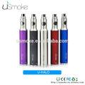 Ajustável da tensão da bateria ego vaporizador usmoke u- halo tipo tubulação de cigarro eletrônico