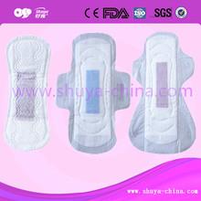 Cotton Sanitary Napkin Lady Anion Pads Purple Chip