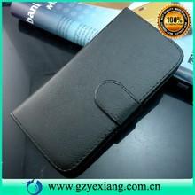 New book cover black leather flip case for motorola moto g2 xt1063