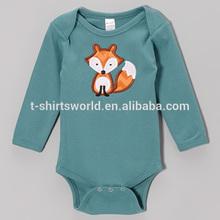 Applique embroidery baby romper creeper