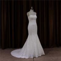 china custom made backless fishtail beautiful red wedding dresses