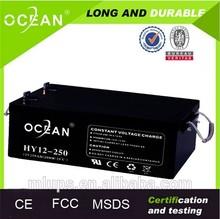 Factory direct sell 12v 250ah gel battery in parallel 500ah solar battery