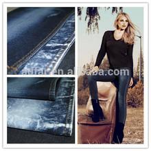 10.6OZ Dark Blue cotton polyester stretch denim fabric
