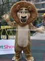 2014 de alta calidad de madagascar león alex traje de la mascota de los animales de la mascota traje de adultos