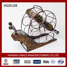 Snail Frame Metal 8 Pack Bottle Carrier & Wine Racks