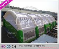 2015 giant new design rain resist waterproof windproof inflatable tennis court tent for tennis club