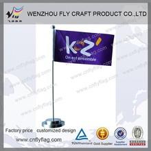 Table flag 100% polyester desk flag for ad