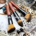 Escovas de cabelo profissionais/cabelo sintético natural madeira pincel kabuki/cosméticos de importação da china