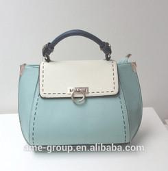 Multi-funtionable Cute Multicolor Hard PU Ladies Handbag