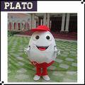 Más calientes de huevo traje de la mascota, adultos traje de huevo