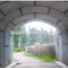 Qijia corrugated steel culvert pipe, metal culvert pipe arch plate