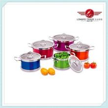 10pcs mixed colour enamel steel cookware