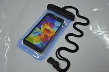 hot item waterproof bag for hand phone under 4.5 inch mobile phone case with arm belt and neck strap
