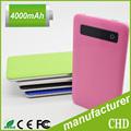 Ultra fino banco do poder de bateria li-polímero com tela de toque