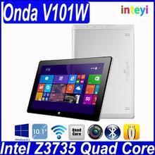 New 10.1 inch IPS Screen Onda V101W Tablet PC Intel Z3735 Quad Core 2GB RAM 32GB 5MP Camera Bluetooth WI-FI Win8 Win 8 OS