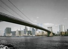 3D wall paper, City Skyline design of wall paper, New York Bridge design of wall mural