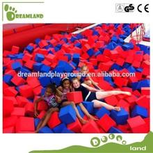 colorful gymnastic foam pit cubes