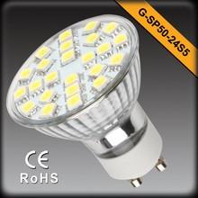 High Quality SMD LED Light 3W GU10 LED Spot Light 24SMD 5050 GU10 LED Bulb