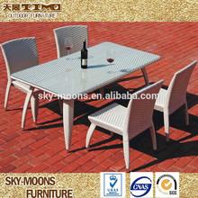modern weaving garden rattan table and coffee rattan table chair(TC041)