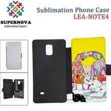 Printable Leather Mobile Phone Cover Case for Samsung Galaxy Note4