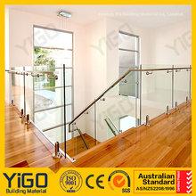 Balustrade en verre sans cadre de production yigo/balustrade/main courante