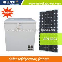 238L new product solar refrigerator freezer AC/DC12v/24v solar chest freezer 12v fridge freezer