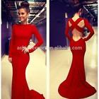 2014 Sexy Bodycon Modern Disco Kebaya Big Ass In Evening Bandage Dress ,Latest Prom Long Sleeve Maxi Designs Dress