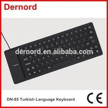 Mini Flexible Silicone Computer Turkish Language Keyboard