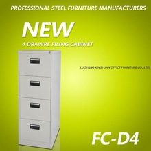 2014 Good quality knock down 4 drawer steel filing cabinet
