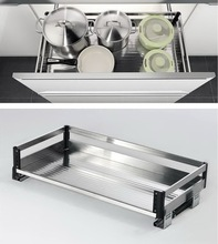 Pull out kitchen stainless steel pantry