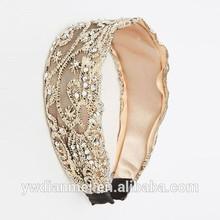 Latest hot selling fashion lace headband,new arrival product elastic lace for headband wholesale2015