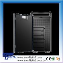 Sans Digital AccuNAS AN8L+B 64bit iSCSI and Windows/MAC/Linux Files Shared Dual GB NAS Storage