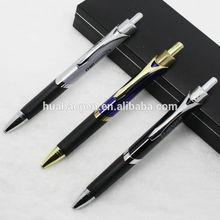 Super Classical Brass Click Metal Gift Pen, Rubber Grip Triangle Ball Pen