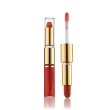 New products private label double end colorful lipstick and lip gloss