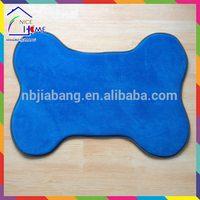 Bone shape customized classical pet cushion leopard cat dog bed mat