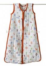 Hot Sales 100% Cotton Muslin Stroller Baby Sleeping Bag