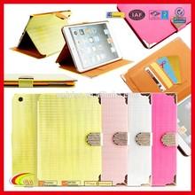 Fashion Design Folio PU Leather Magnetic Smart Case Cover for Apple iPad Mini 2 3 4 with Card Slots