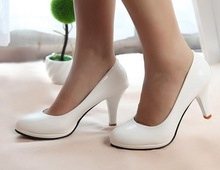 Simple design high heel office lady shoe ,candy color high heel dress shoes,high heel shoes China factory