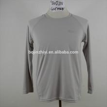 custom logo long sleeve t-shirt slim fit men